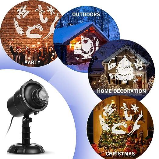 Amazon.com: Proyector de luces LED de Navidad, 3D ...