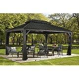 Amazon Com Sunjoy 10 X 12 Chatham Steel Hardtop Gazebo Garden