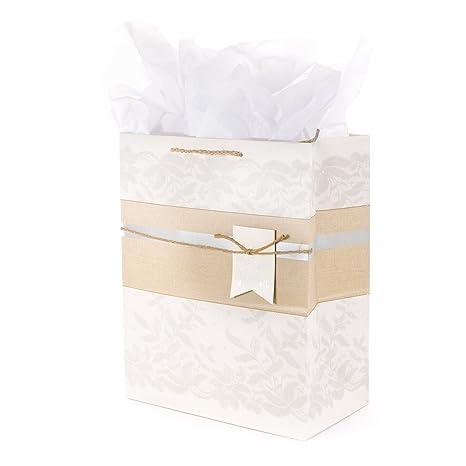 Amazon.com: Hallmark 5 wdb5766 bolsa de regalo, color blanco ...