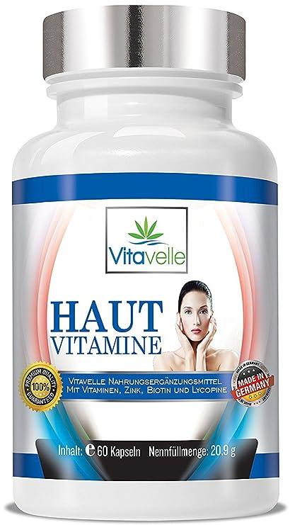 Vitaminas piel 60 cápsulas de celulosa para una piel bella y clara I de Premium belleza