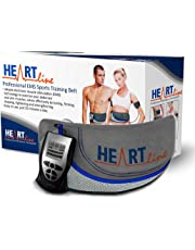 Heartline Ab Belt Professional Advanced Unisex Toning Belt, Six Pack Adjustable Waist EMS Abdominal, (NO REPLACEMENT PADS OR GEL REQUIRED JUST USE WATER), Tone Your Stomach Muscles Today!