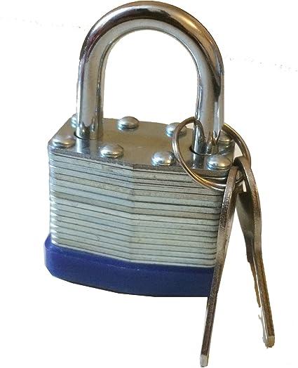 Nuevo 40 mm Candado resistente al agua - acero sólido resistente - 2 llaves con cada cerradura - seguridad ...