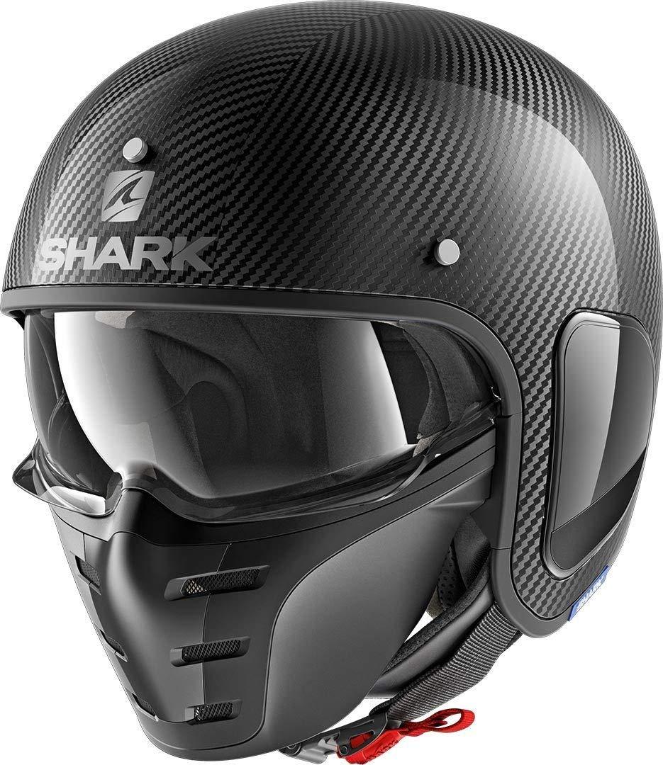 Shark Casco Jet s-drak Carbon Skin gris negro DSK talla L