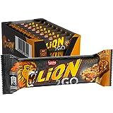 Nestlé LION 2GO Peanut, Schokoriegel mit Erdnüssen, Cranberries & Rosinen, bissiger Knusperreis, Karamell, das besondere Beißerlebnis to go, Menge: 24er Pack (24 x 33 g)