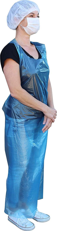 50 Pi/èce PE Bleu bleu tabliers martel/ées gebblockt 75 x 140 cm Plus diff/érentes couleurs de Medi-Inn