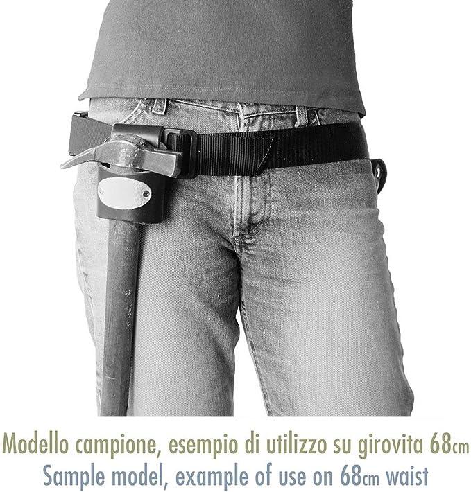 Fatto a mano in Italia Cintura non Inclusa Rivetti Bruniti Colore Marrone Porta metro flessibile piccolo in Vero Cuoio