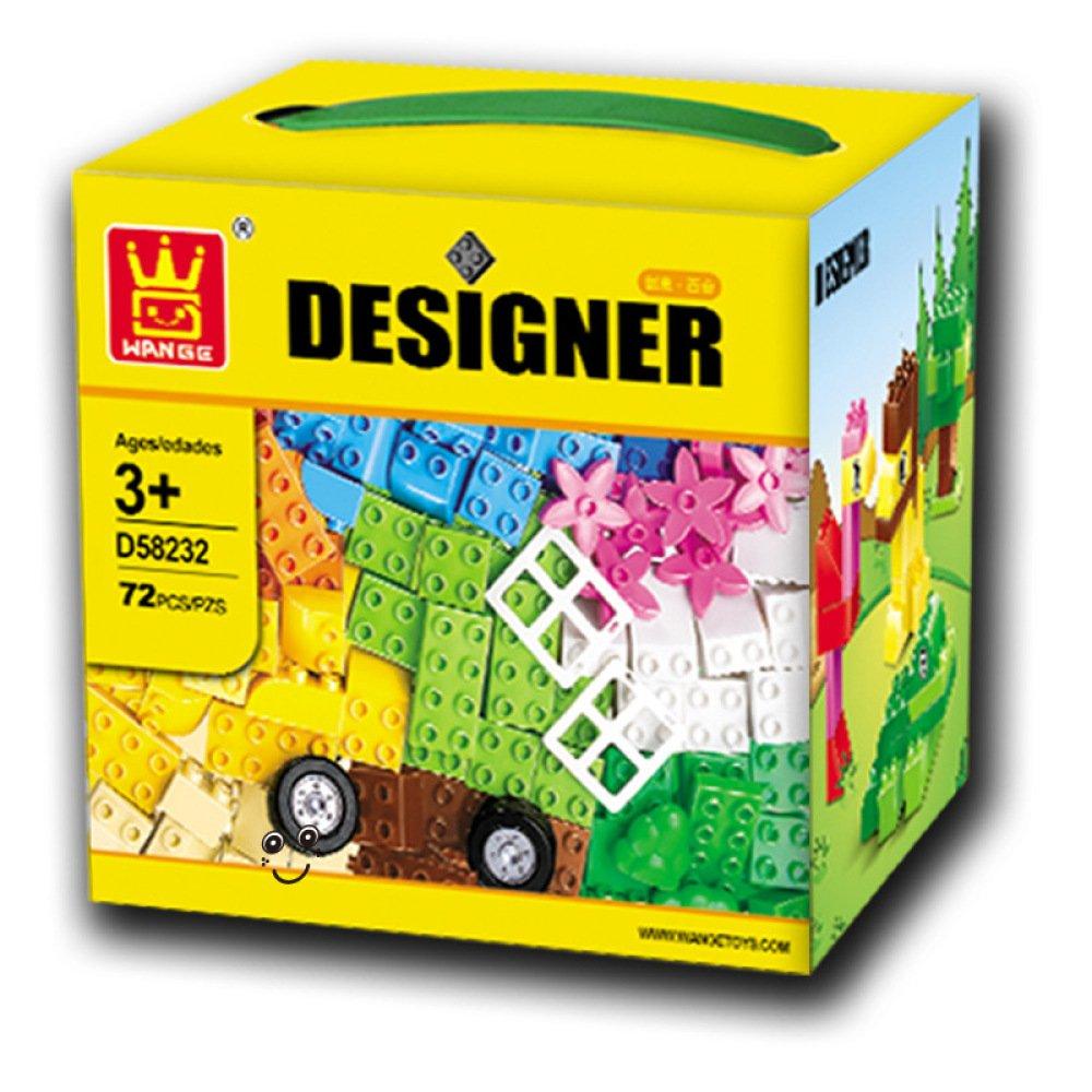 QXMEI Kinder Bausteine Spielzeug Puzzle Große Partikelgröße: 8.3 Zoll  8.3 Zoll  7.5 Zoll