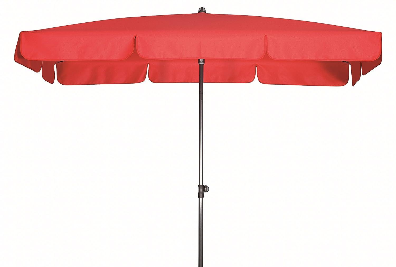 Absolut wasserdichter Gartenschirm Waterproof 260x150 von Doppler mit UV-Schutz 80, Farbe rot