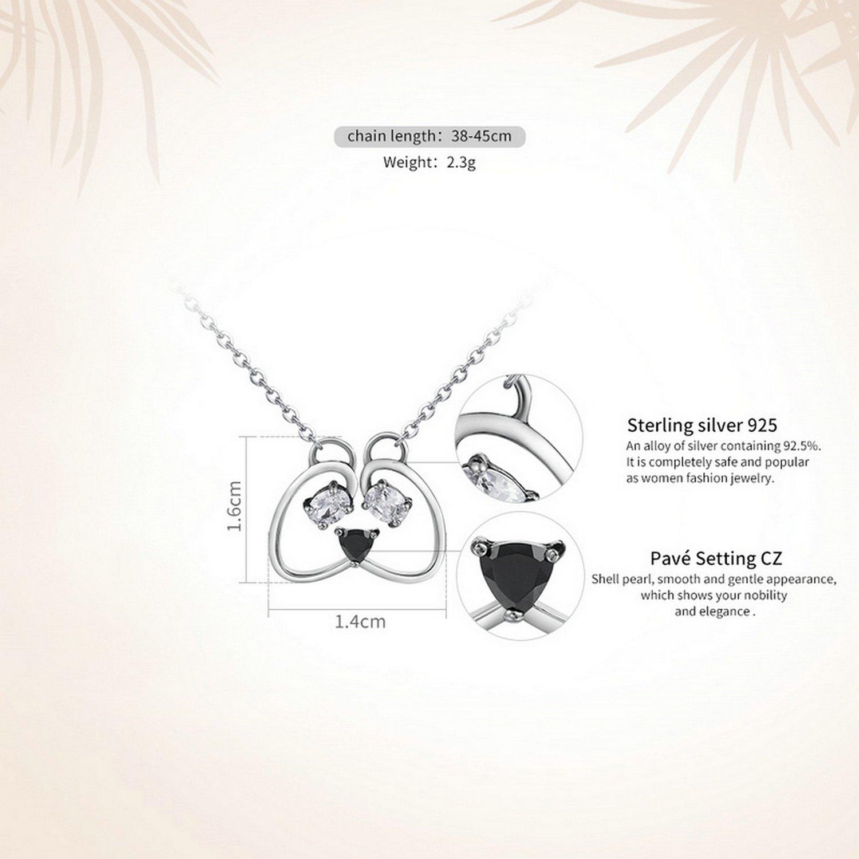 CS-DB Pendants Crystal Panda Silver Necklaces