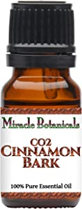 Miracle Botanicals CO2 Extracted Cinnamon Bark Essential Oil - 100% Pure Cinnamomum Zeylanicum - Therapeutic Grade (10ML)