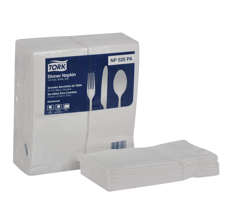 Amazon.com: Tork Advanced NP528PA Soft Dinner Napkin, 2-Ply, 1/8 Fold, 15