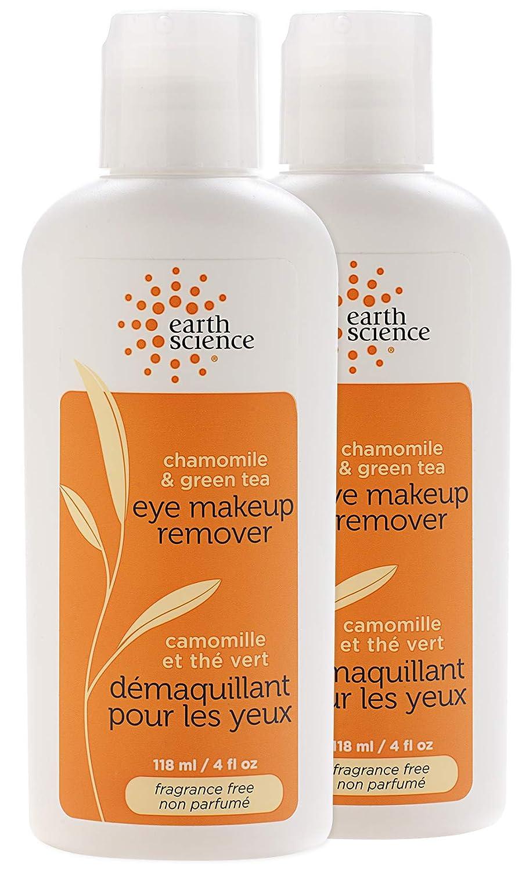 EARTH SCIENCE - Chamomile & Green Tea Natural Eye Makeup Remover (2pk, 4 fl. oz.)