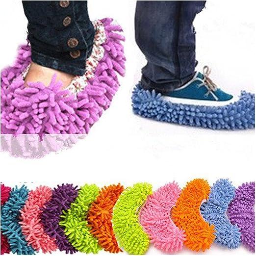 7 opinioni per EQLEF® Multi-Function ciniglia fibra lavabile Dust Mop Pantofole- colore casuale
