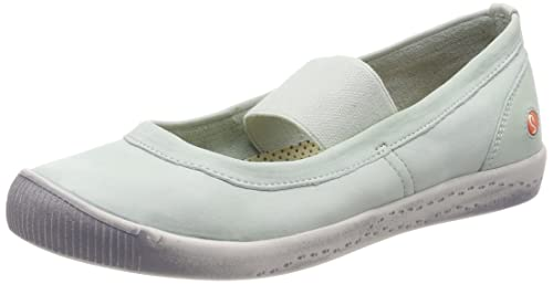 Womens Ion446sof Washed Closed Toe Ballet Flats Softinos cLmq9