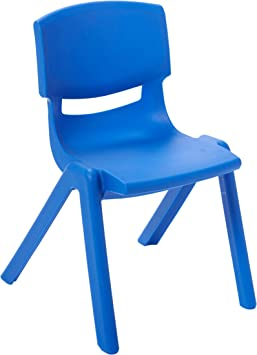 Amazon Com Ecr4kids 10 Inch Plastic Stackable Classroom Chairs Indoor Outdoor Resin Stack Chairs For Kids Blue 10 Pack Toys Games