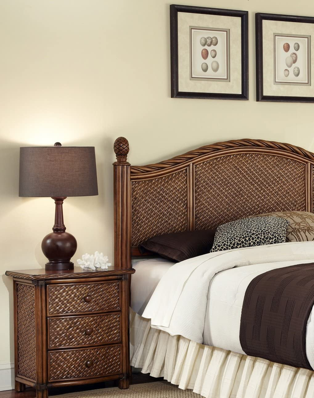 Marco Island Cinnamon Queen Full Headboard Night Stand by Home Styles