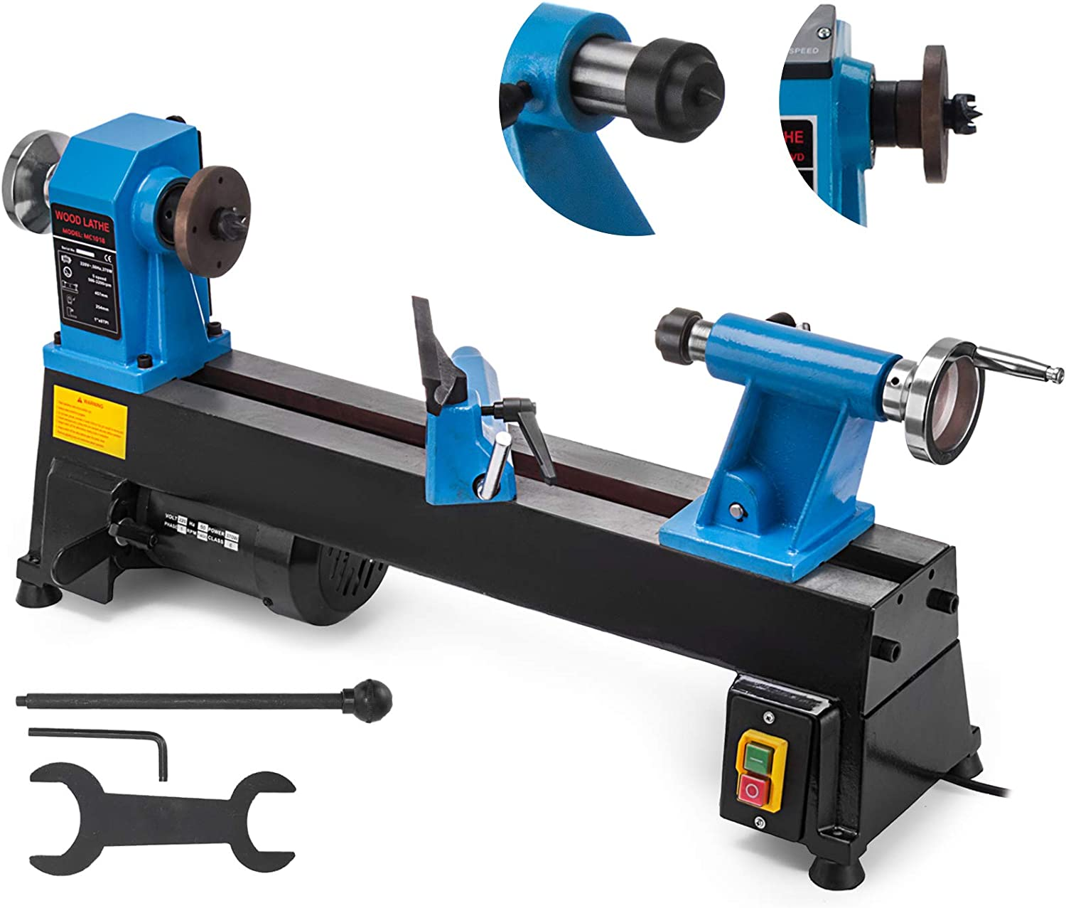Mophorn 10 x 18 Inch Bench Top Heavy Duty Wood Lathe
