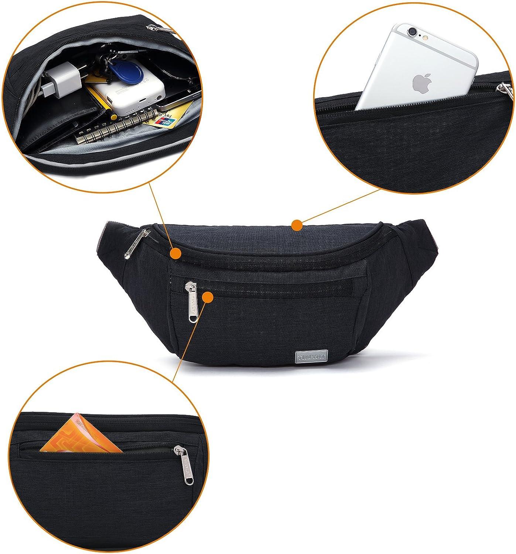 TINYAT Large Fanny Pack Travel Waist Bag Lightweight for Men/&Women with Adjustable Strap T206