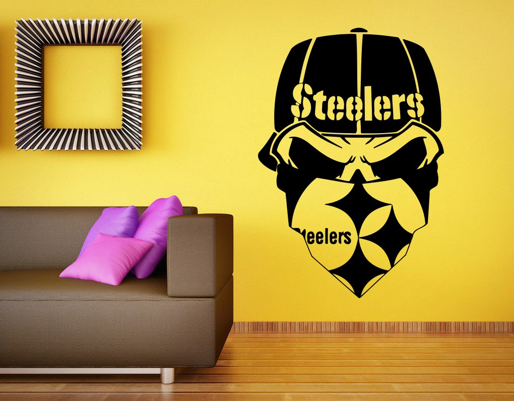 Amazon.com: Pittsburgh Steelers Vinyl Decal NFL Wall Sticker Emblem ...