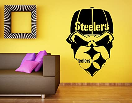 Pittsburgh steelers vinyl decal nfl wall sticker emblem football team logo sport home interior removable decor