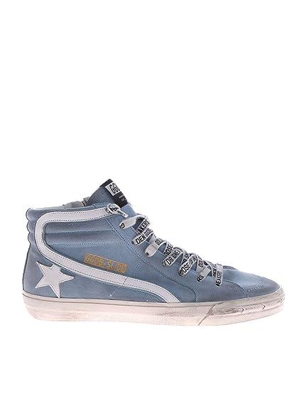 GOLDEN GOOSE G34MS595A21 Hombre Azul Claro Cuero Zapatillas Altas: Amazon.es: Zapatos y complementos