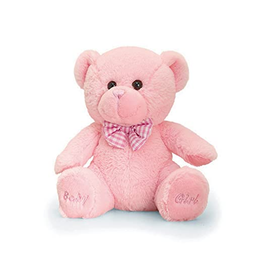 Keel Toys Baby Girl Teddy Bear Plush Toy (One Size) (Pink)