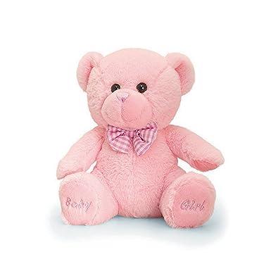 Keel Toys - Oso de peluche para niña (Talla Única/Rosa)