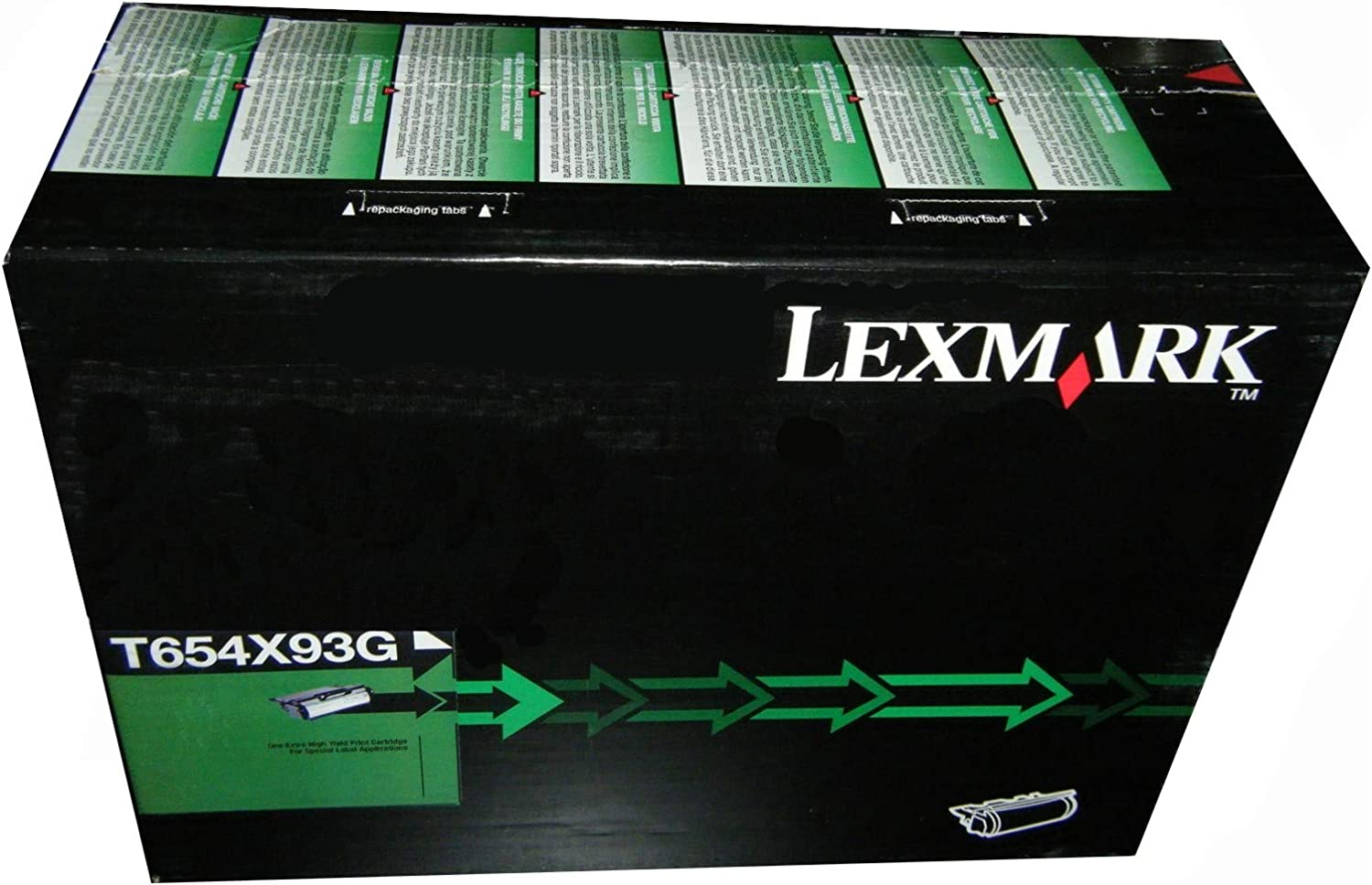 Brand New Lexmark T654X93G for T654 PRINTERS Extra High Yield Black Toner Cartridge MSRP $425 0FFICEDEP0T
