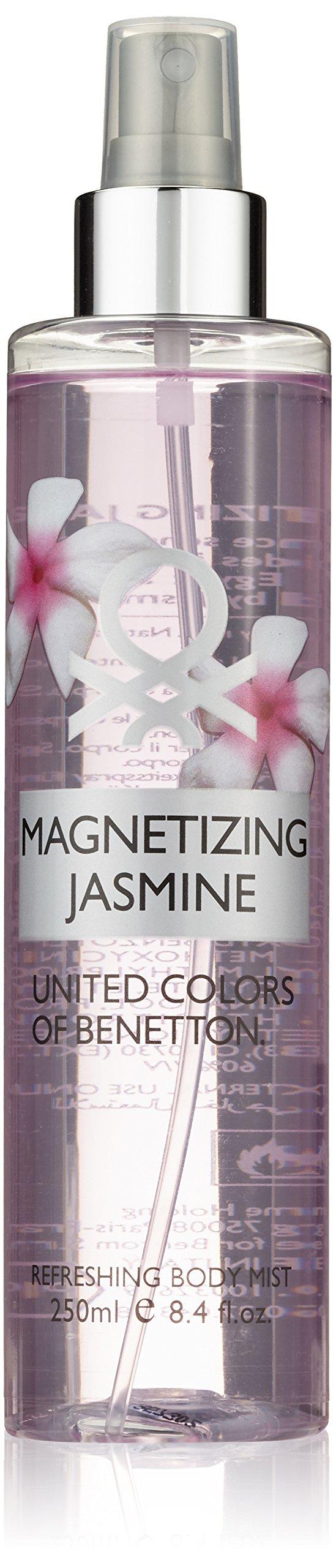 United Colors of Benetton Magnetizing Jasmine Body Mist, 8.4 Ounce