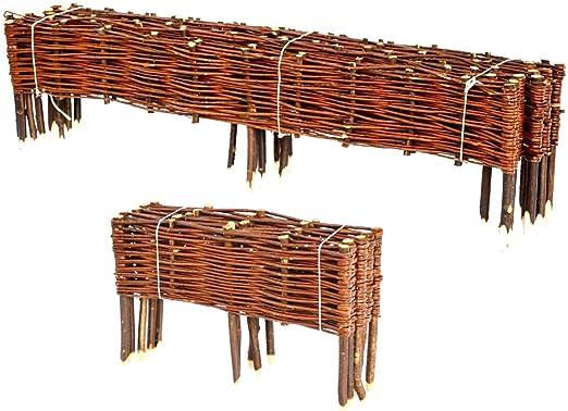 BooGardi Clôture en bois de saule pour bordure de plate ...