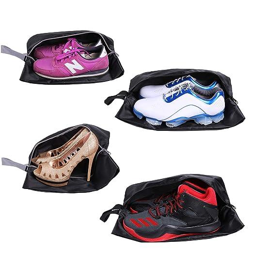 Bolsas para zapatos - Accesorios de viaje YAMIU 4-Pack (2 tamaños) nylon resistente al agua con la cremallera para los hombres y de las mujeres ...