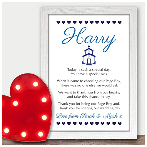 Page Boy Thank You Poem Gift For Page Boy Usher Best Man Thank You