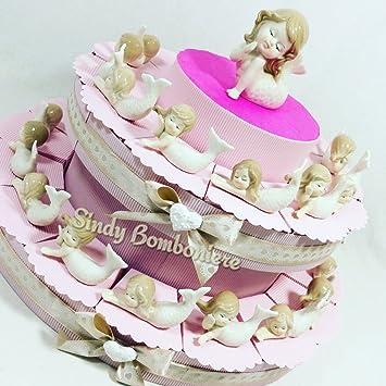 Bomboniere Geburtstag Geburt Kuchen Meerjungfrau Porzellan Mädchen