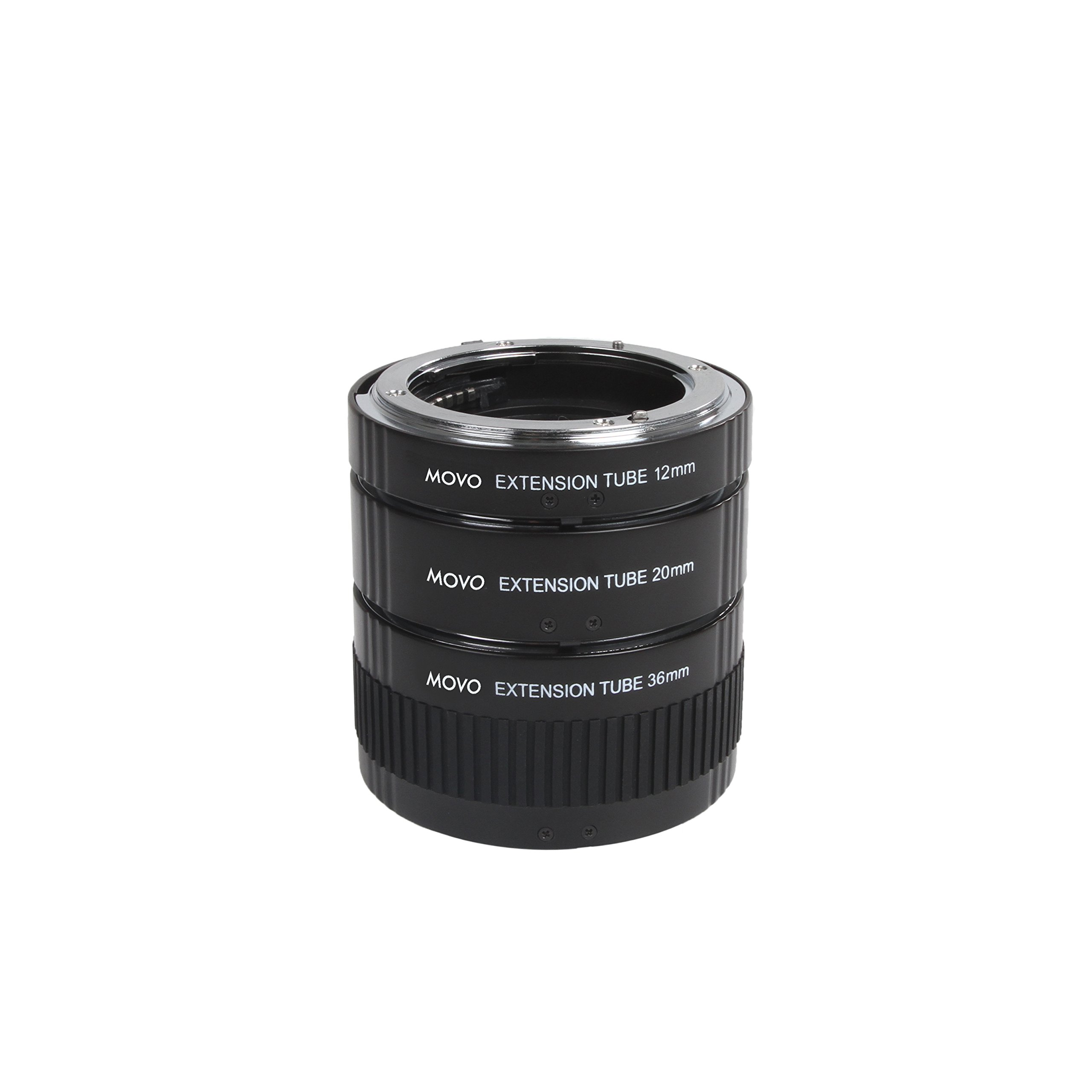 Movo Photo AF Macro Extension Tube Set for Nikon DSLR Camera with 12mm, 20mm & 36mm Tubes (Metal Mount) by Movo (Image #4)
