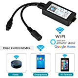 WiFi Wireless LED Controller, Guaiboshi Smart LED Controller for 5050/3528/2835 RGB LED Strip Lights Working with Amazon Alexa Echo, Google Home, SmartPhone IOS Android APP, 24 Keys Controller included
