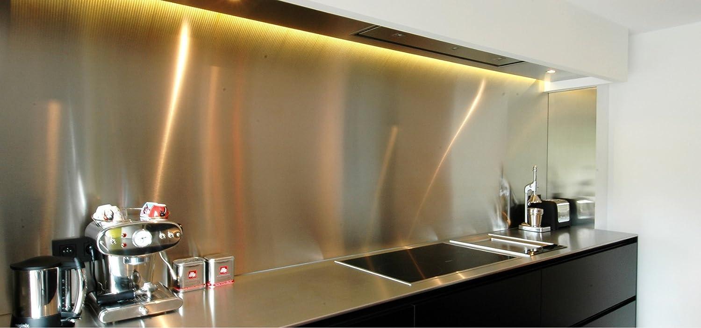 AluColore Credenza da cucina in acciaio inox spazzolato, 60 cm x 80 cm, di 1 mm