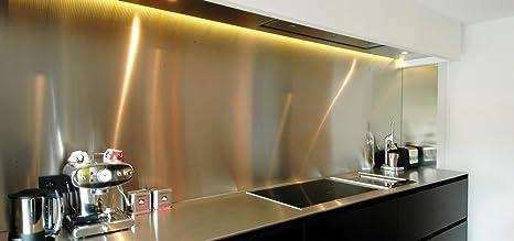 AluCouleur - Frente de encimera de cocina, acero inoxidable ...