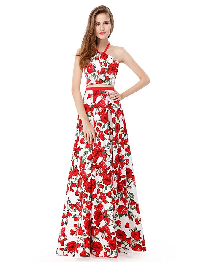 f560f114c114 Ever-Pretty Womens Elegant Floral Print Long Two Piece Wedding Guest Dresses  at Amazon Women s Clothing store