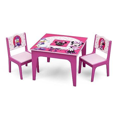 Set Tavolo E Sedie Minnie.Deltatm Deluxe Set Tavolo E Sedia Minnie Disney Amazon
