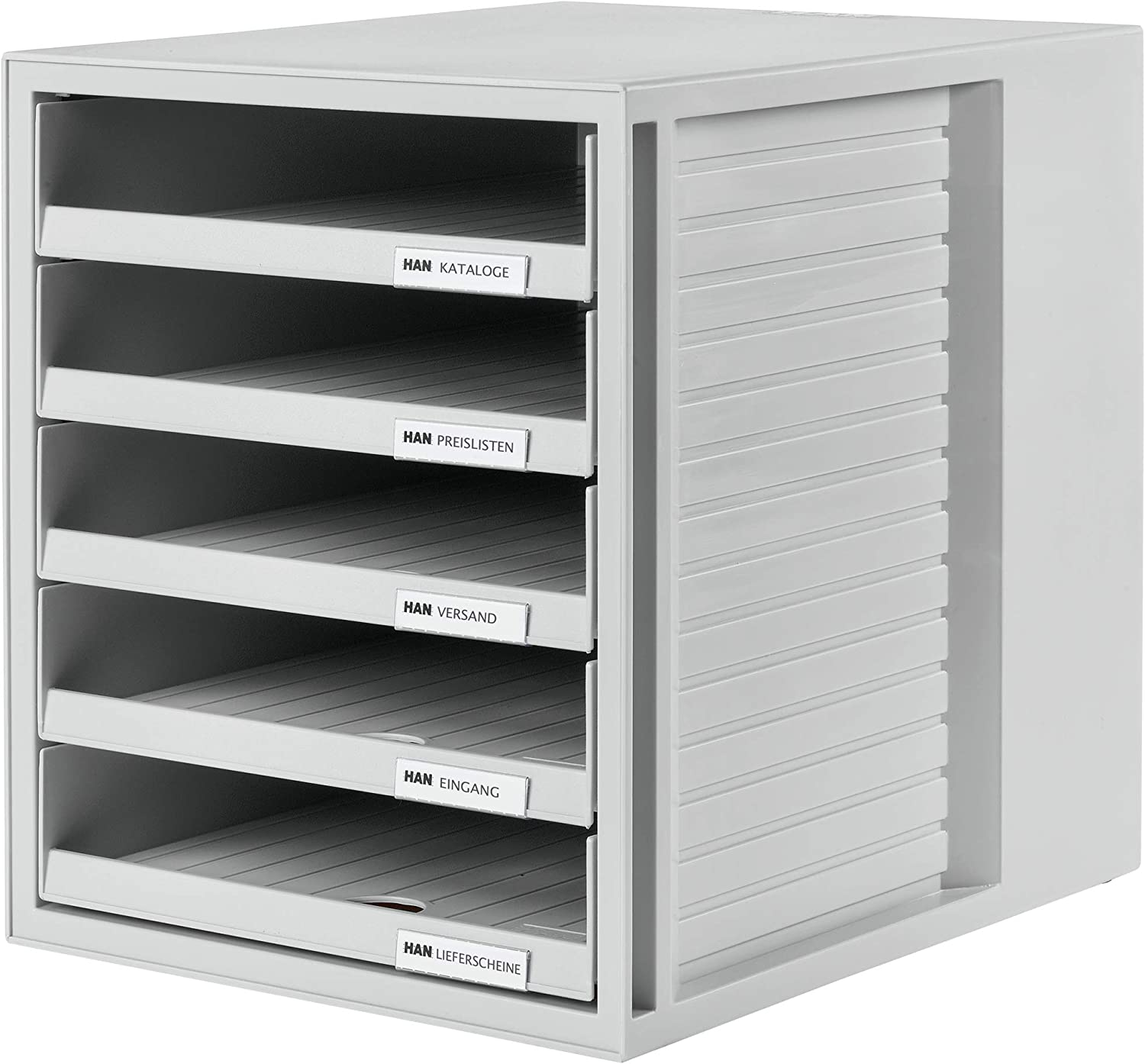 Amazon Com Han 1401 11 Schrank Set Drawer Set Innovative Attractive Design With 5 Open Drawers Light Grey Office Products
