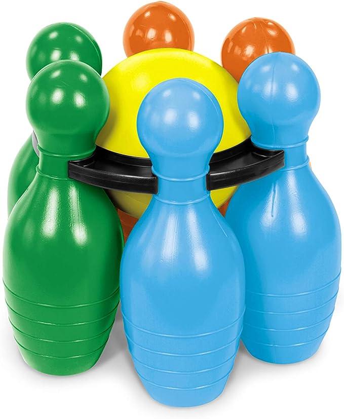Mondo Bowling - Set Gigante de 6 Bolos + Pelota: Amazon.es ...