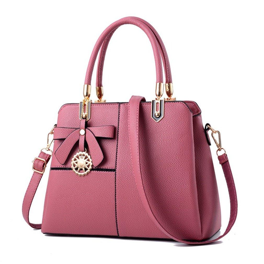 Chic-Dona Women Leather Handbag Shoulder Bag Female Purses And Handbags Women Tote Bags Pink