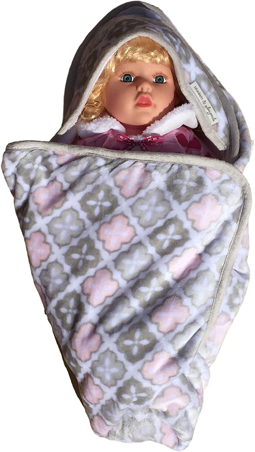 Sherpa Backing Warm and Cozy Baby Blankets For Girls Extra Soft Micro Plush Fleece Blanket Little Owls Multiple Designs and Themes Anti-Pilling