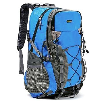 Evecase Mochila de Senderismo 40L, Mochila de Viaje, Macuto Montaña y Multifuncional, Compacto con Aire Libre, Deporte, Escalada y más, Azul: Amazon.es: ...