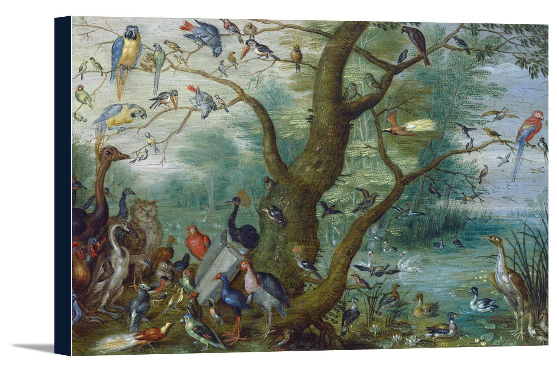 コンサートの鳥 – 傑作クラシック – アーティスト: Jan van Kessel学生C。1660 36 x 24 Gallery Canvas LANT-3P-SC-66299-24x36 36 x 24 Gallery Canvas  B0184B928W