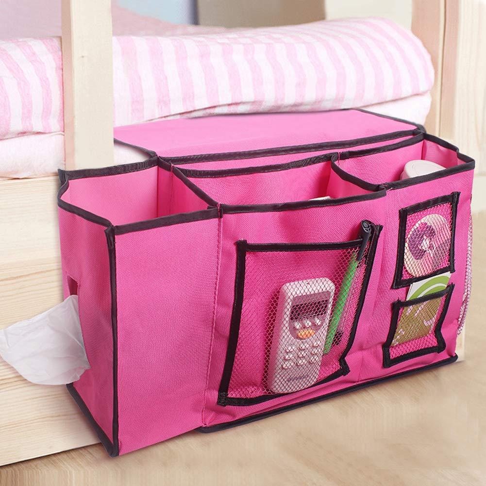 QEES Bedside Magazine Holder Bedside Caddy Organizer Bag SND10 (Black) ZhuoLang