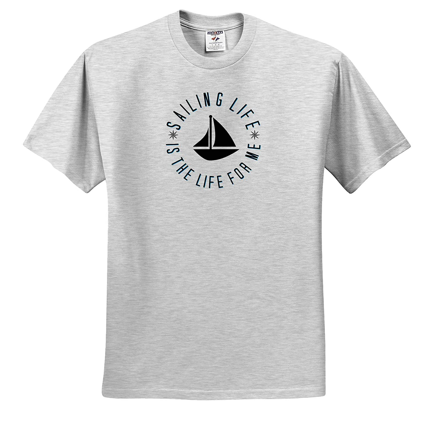 3dRose Carrie Merchant Image of Sailing Life is The Life for Me Adult T-Shirt XL ts/_309902