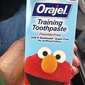 Amazon Com Orajel Elmo Fluoride Free Training Toothpaste