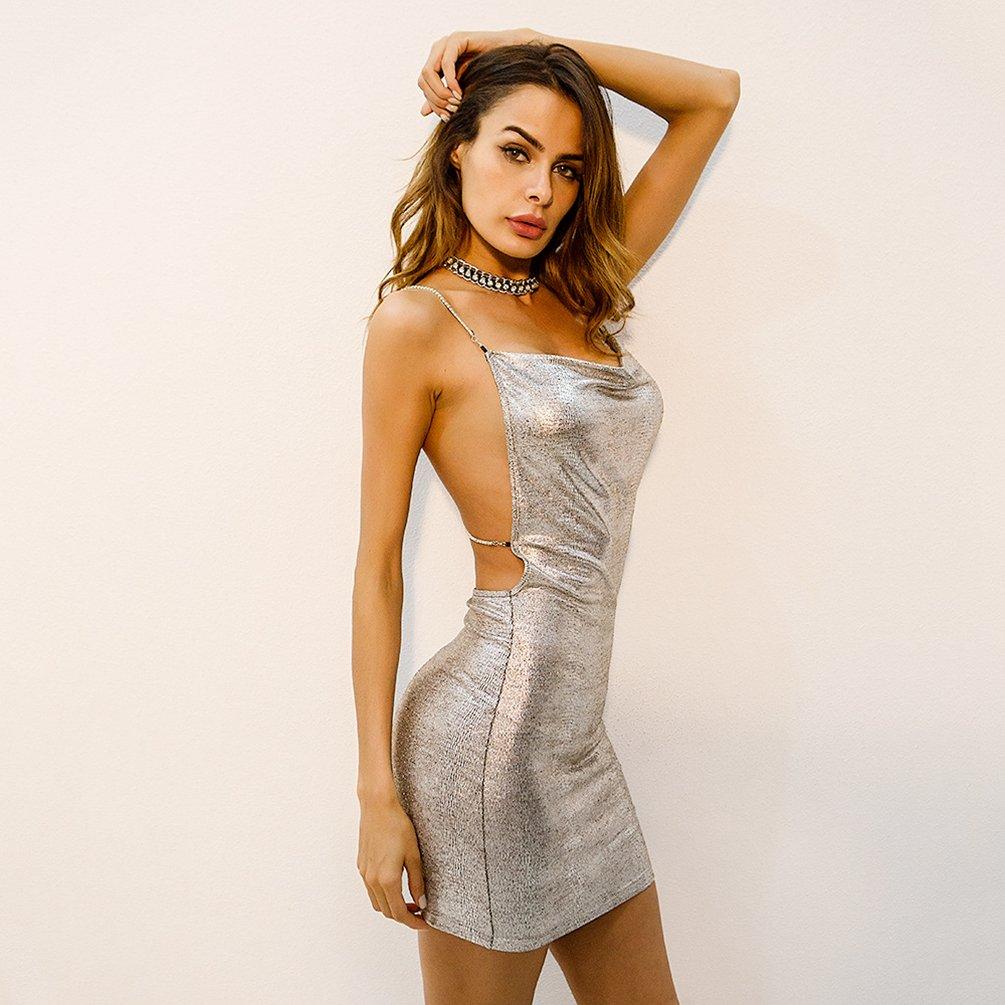 YiiJee Mujer Mini Corto Vestidos Sin Espalda de Bodycon Lápiz Vestido Partido Cóctel Fiesta Beachwear: Amazon.es: Ropa y accesorios