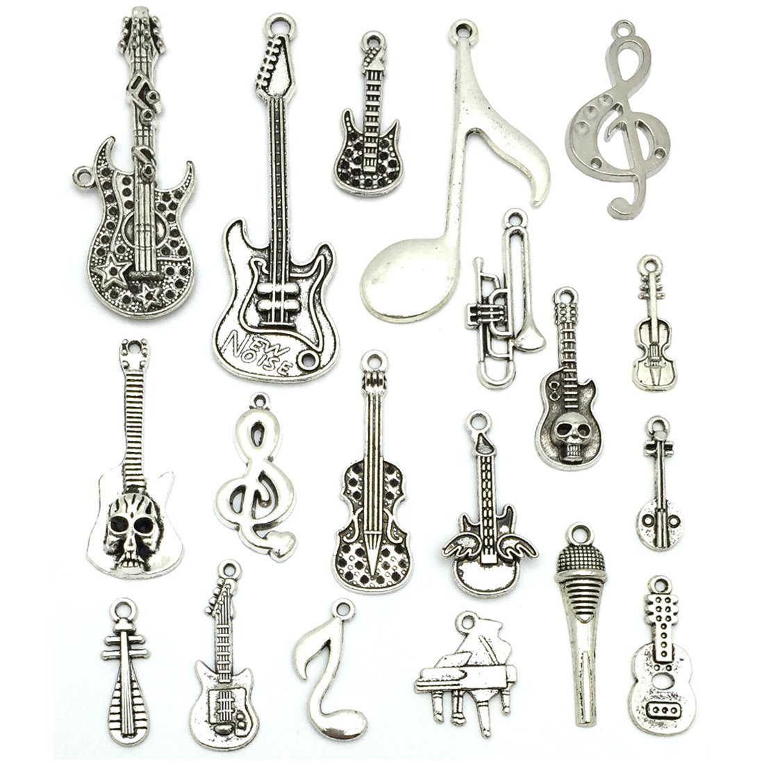 Music Notes Charms, JIALEEY Wholesale Bulk Lots Music Elements Musical  Instrument Beads Pendants for Necklace Bracelet Jewelry Making and